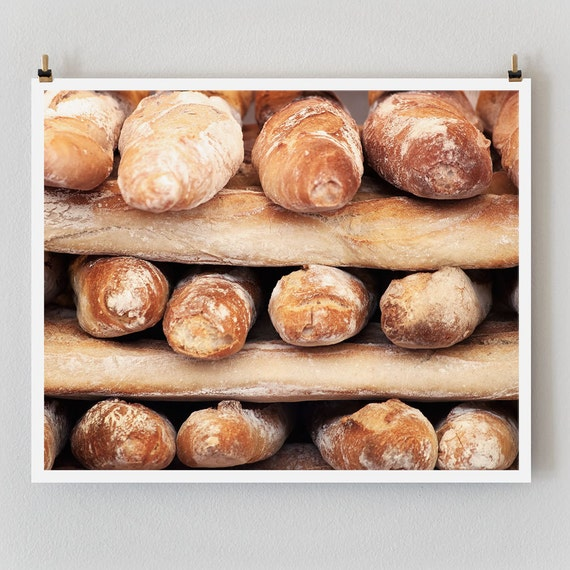 "Paris Photography, ""Baguettes"" Paris Print, Large Art Print Fine Art Photography, Rustic Kitchen Art, Paris Decor"