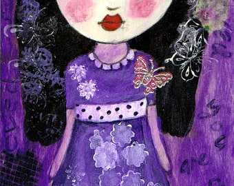You Are So Loved - Big Eyes Art - Reproduction of Original Art Work by Jessi Designs