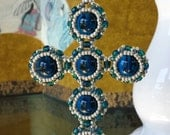 Medieval-Style Cross in Blue