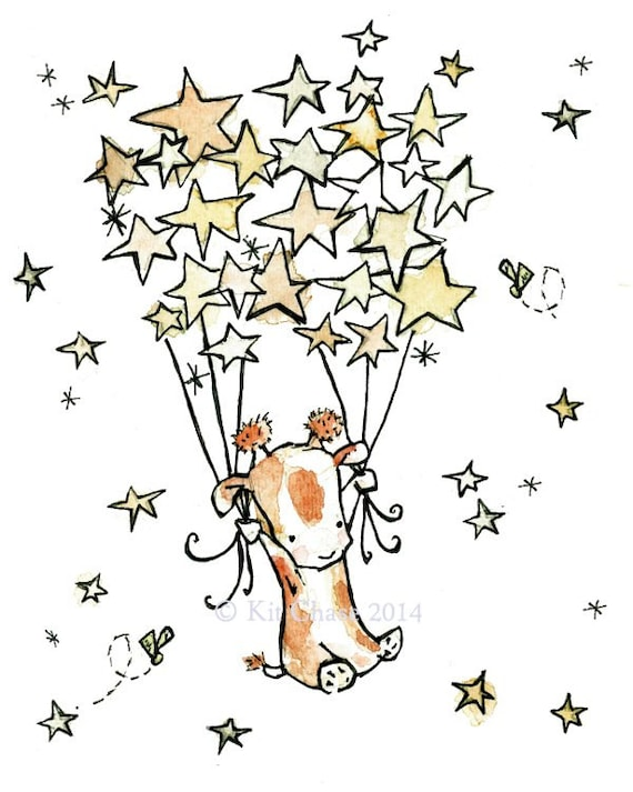Nursery Art -- Trot, the Star Flyer -- Art Print