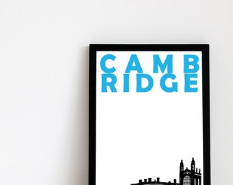 Cambridge Art Print // United Kingdom Print