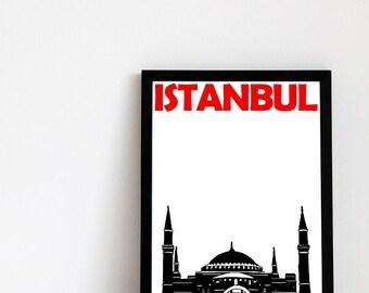 Istanbul Print (8x10) Istanbul Art Turkey