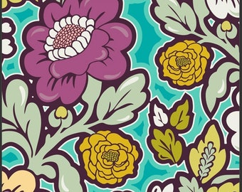 Art Gallery fabric, Bespoken - Floral Silhouettes BE6100 Fresh, by the yard