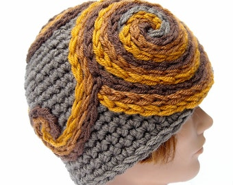 Handmade Psychedelic Spiral Hat, RUSTIC RIVER