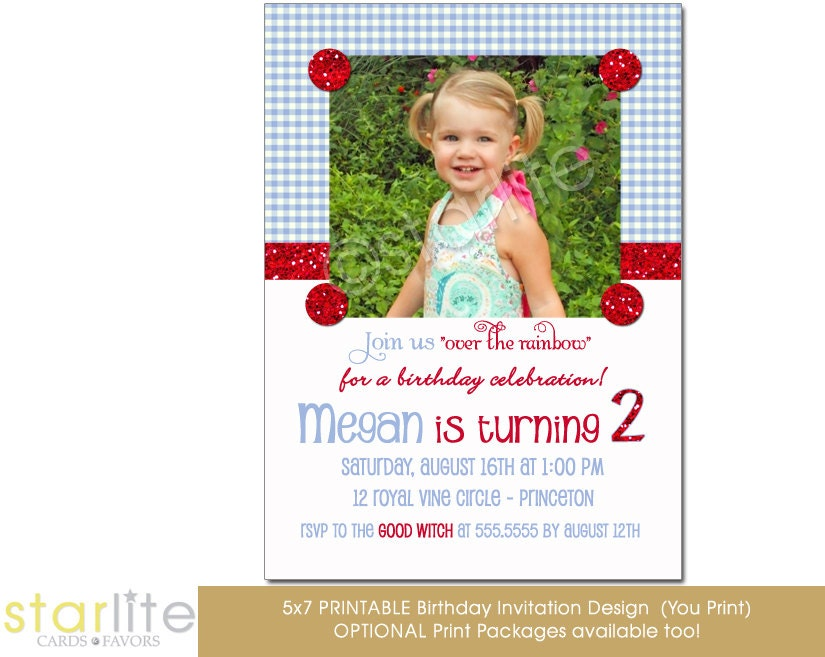 wizard of oz birthday invitation - photo invitation