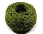 Crochet Thread 3 Ply Linen Thread Olive Green Linen Yarn Natural Fiber Tatting Thread Specialty Thread