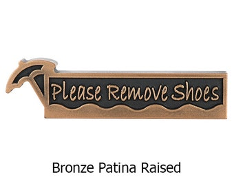 Umbrella Remove Shoes Please 10 x 2.5 inches Made in the USA