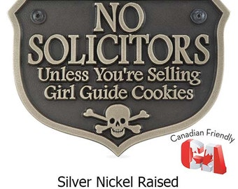 Girl Guide No Soliciting Sign 10x7 Made in the USA