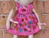 Sew Sunshine -JCOCO doll-(colourful bugs)- Handmade Soft Cotton Doll