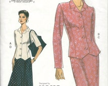 Vogue 7492 EASY Misses Top and Pull On Skirt Pattern Designer KOKO BEALL Womens Sewing Pattern Size  8 10 12 UNCuT