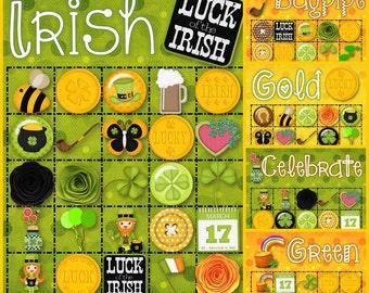 30 St. Patrick Bingo Cards - INSTANT DOWNLOAD
