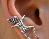 Ear Cuff Silver People Ear Cuff Ear Woman Ear Cuff People Jewelry People Earring Non Pierced Earring Non Pierced Ear Cuff People Cuff
