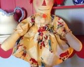 Primitive Raggedy Ann Doll Clarabelle