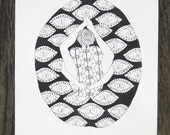 The Tortoise's Back - Kurmasana - Yoga Asana Art
