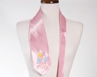 Embroidered Pinkie Pony Light Pink Neck Tie