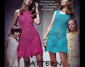 PDF Pattern - Crochet Dress Patterns  Seashell Shift - Vest and Skirt - Girls and Womens Sizes - Pattern 03142519