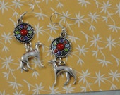 Greyhound Whippet Galgo Southwest Colors Earrings
