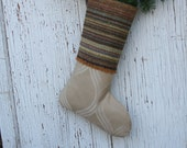 Christmas in Sweden - Wool and Damask Christmas XMas STOCKING