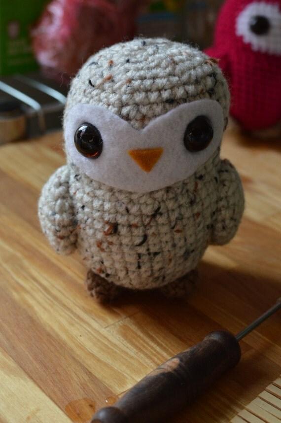 Amigurumi Barn Owl : Barn Tea Owl Amigurumi Crochet Doll Premade by AwkwardSoul