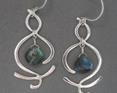 Destiny~ Handcrafted Silver and Labradorite Earrings
