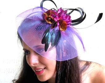 Purple Fascinator  - Lavender Fascinator Hat  Wedding Hat BELLS
