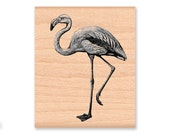 FLAMINGO-Wood Mounted Rubber Stamp (MCRS 27-21)