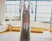 Jenny Packham Grey Backless Dress Inspired Wedding Gown