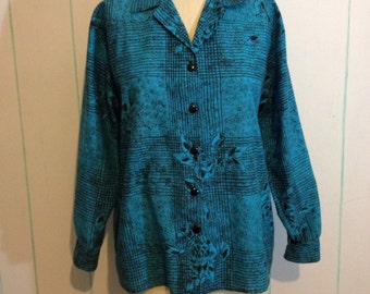 Blue Rose Button up Shirt