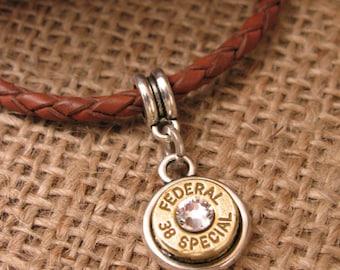 Bullet Jewelry - Bullet Charms - European Style Classic Bezel Bullet Charm - Bullet Pendant