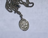 Sterling Silver Saint Rosalia Sterling Silver Medal Vintage Medal