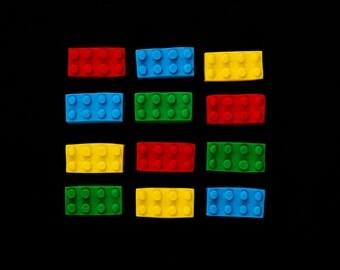 Lego Candy, Lego Fondant, Edible Lego Blocks, Lego Cake Topper, Edible Blocks Cupcake Toppers, Edible Blocks Cake Topper