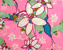 Wild and Wacky 60s Tropical French Floral Fabric with A Lily Pulitzer Vibe// Yardage// New Old Stock// By the Yard