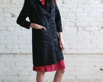 zig zag magnin -- vintage 60's zig zag patterned coat Size S/M by I Magnin