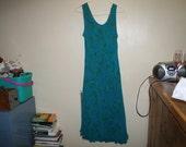 Plus Size Peacock Blue Dress