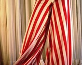 Pantaloons harem pants - striped red and white - YOUR SIZE