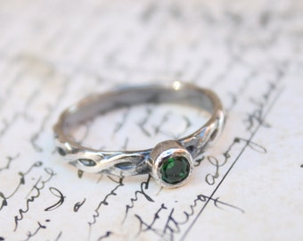 Emerald Green Ring - Made to Order