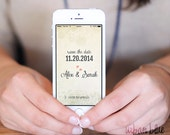 iPhone Wallpaper, Mobile Phone, Wallpaper, Personalized, Save the date, Wedding, Invitation, iPhone 4, iPhone 5, iPhone 5s, iPhone 6 & plus