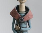 HANDMADE CERAMIC SCULPTURE, Women Clay Sculpture, Goddess, Spirit Figure, Sculpted Figure, Human Form, Goddess, Woman Sculpture, Female