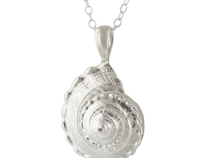 Sterling Silver Sea Shell Golden Ratio Pendant Necklace