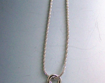 Lovely rounded turquoise, sterling beads, circles, diamond cut sterling chain