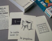 2 Vintage Boxed Sets of FRENCH Vocabulary & Phrase FLASH Cards ~ Parent Teacher Aids