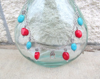 Treasure Keeper Necklace - Coral Sea