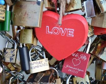 Paris Love Locks Heart Print, Pont des Arts Bridge Heart Love Locks, Paris Valentine Love Locks, Paris Heart Love Locks Print, Paris Locks