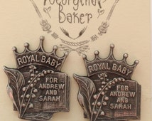 British Earrings, Royal Family, Stud Earrings, Spoon Earrings, Royal Baby, UK Jewellery, UK Earrings, Spoon Jewellery