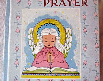 Vintage child's prayer book, 1952, 'Hear Our Prayer', illustrated by Helen Page, colorful religion book, new baby gift, baby shower gift