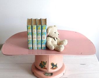 Vintage Pink Baby scale elephant - rocking horse