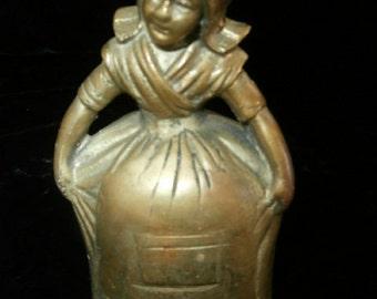 Brass Bell  Dutch Girl with Original Brass Legs for the Clapper