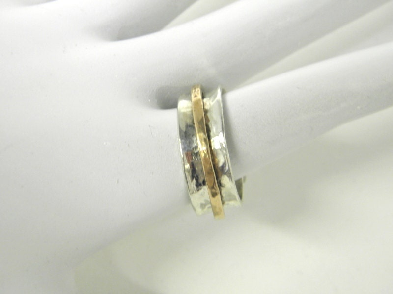 sterling silver spinner ring motion ring jewelers gold