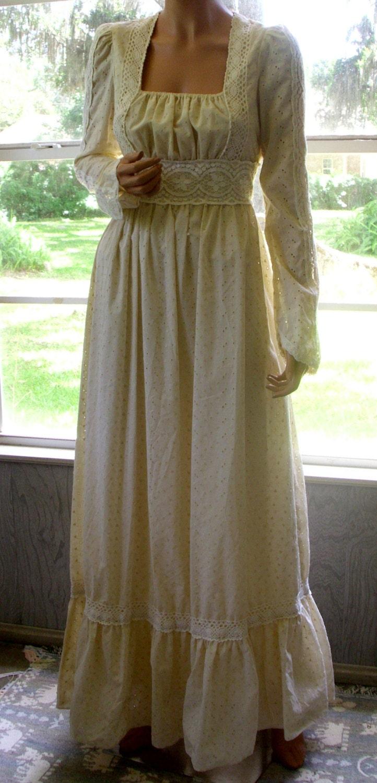 Gunne Sax Dress To Walk Within The Daisies Rare