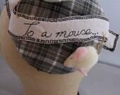To A Mouse, Robert Burns Button Fascinator